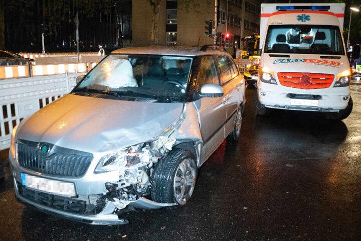 Am Skoda waren die Unfallspuren deutlich sichtbar.