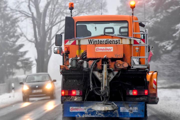 21 Streufahrzeuge sind aktuell in Leipzig unterwegs. (Symbolbild)