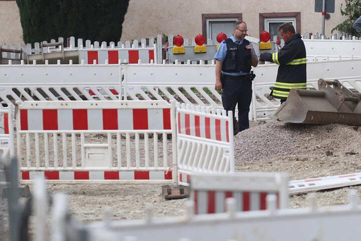 In einer Baustelle wurde die augenscheinliche Bombe gefunden.