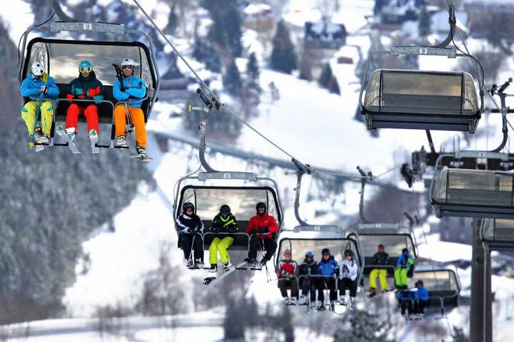Die Bedingungen in den sächsischen Skigebieten sind derzeit bestens.