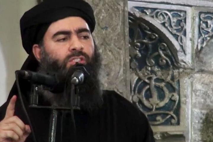 Das undatierte Foto aus einem Video zeigt den Anführer der IS-Terrormiliz Abu Bakr al-Bagdadi.
