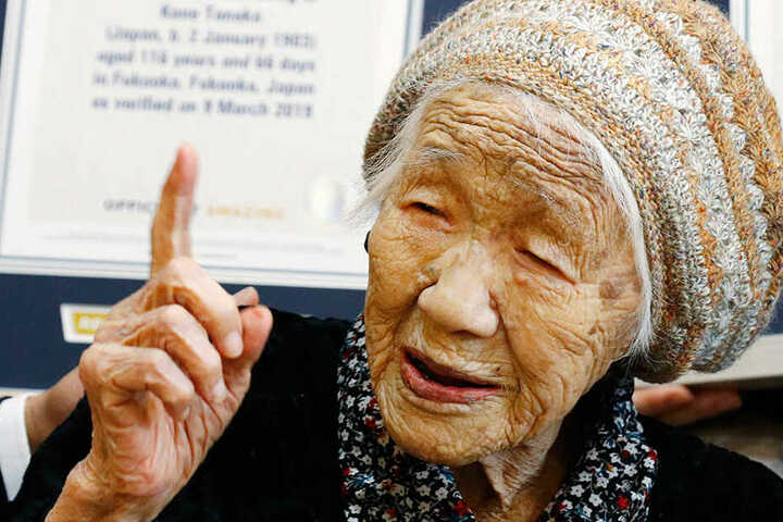 Kane Tanaka (116), der derzeit älteste Mensch der Welt.