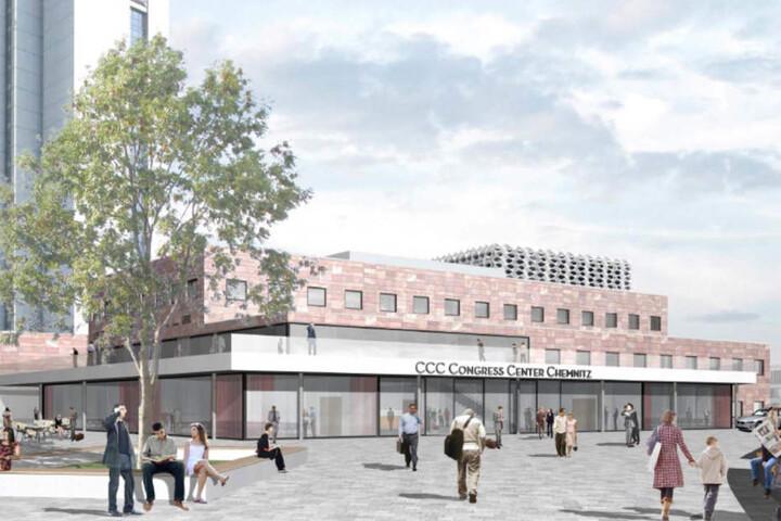 So soll die Stadthalle nach der Erweiterung zum Tagungs- und Kongresszentrum aussehen.