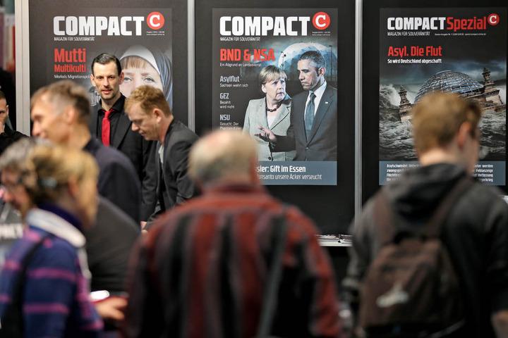 """Wegen Verlagen aus dem rechten Spektrum, wie zum Beispiel das Magazin """"Compact"""", wird das Sicherheitskonzept der Leipziger Buchmesse im März angepasst."""