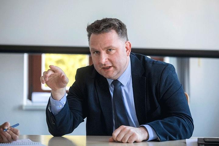 """Eine knappe Mehrheit der Dresdner CDU empfahl ein """"Ja"""" zur """"GroKo"""". Dresdens CDU-Chef Christian Hartmann (43) votierte dagegen."""