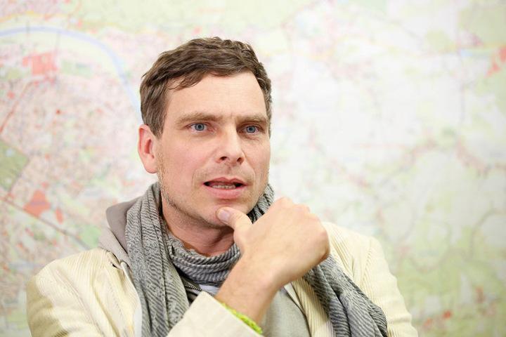 Thomas Löser (44, Grüne) ist bei den Grünen Sprecher für Stadtentwicklung und  Bau.