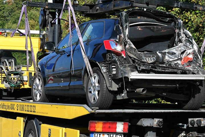 Dieser Audi war ebenfalls an dem Unfall beteiligt.