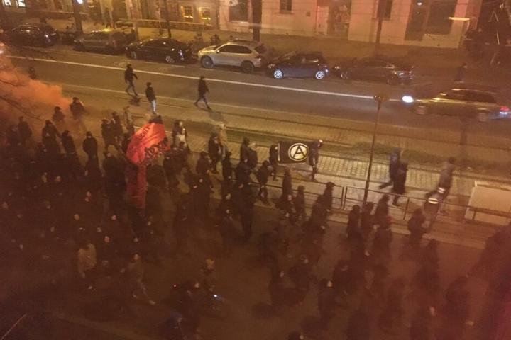 Der Weg der Demonstranten führte Richtung Süden der Stadt.