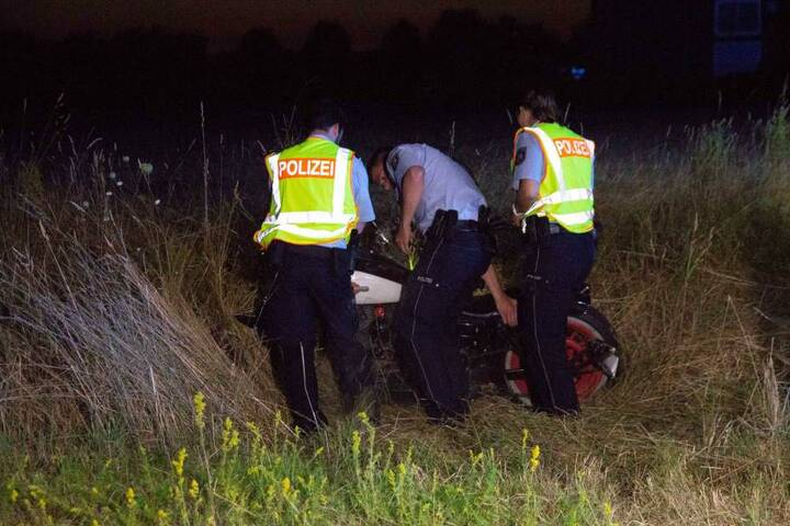 Die Polizei sicherte nach dem Unfall die Spuren.