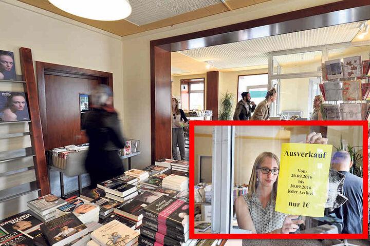 Der Buchladen hielt sich knapp zwei Jahre auf dem Brühl, aber es kamen zu wenige Kunden.
