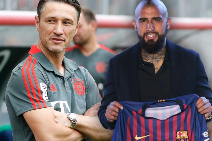 Niko Kovac (l.) lobt zwar die Qualitäten von Arturo Vidal, sieht im Abgang aber kein Problem.