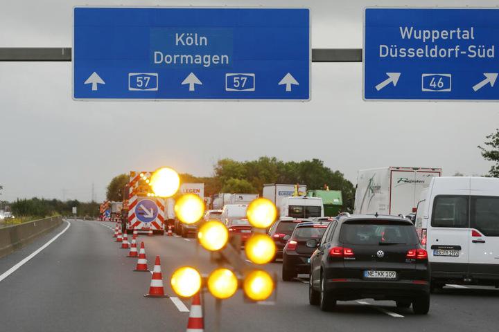 Nach der Seifenlauge-Sauerei wurde die Autobahn extra gesperrt und gereinigt.