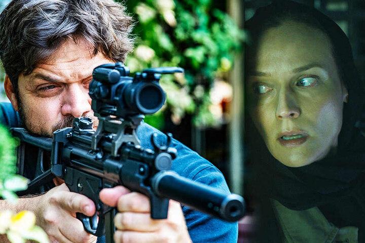 Mossad-Agent Stefan (l., Ohad Knoller) und Rachel (Diane Kruger) arbeiten zeitweise zusammen. (Bildmontage)
