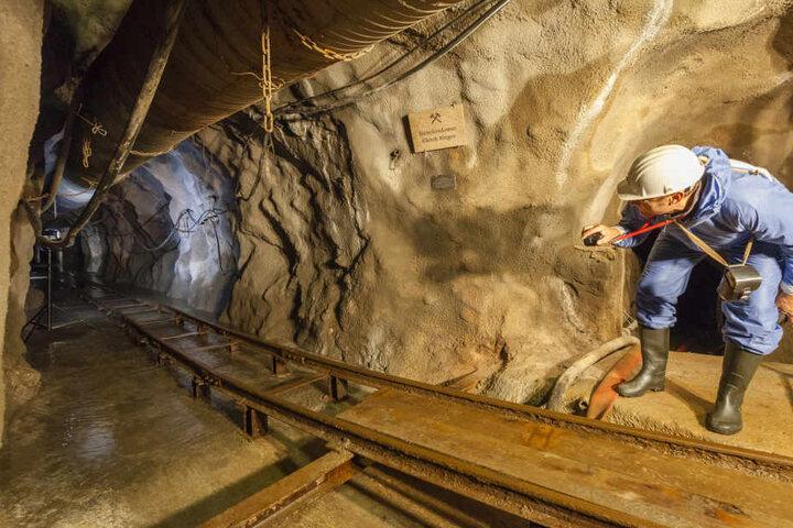 Der neue Stollen übernimmt die Entwässerung des alten Schneeberger Silberreviers.