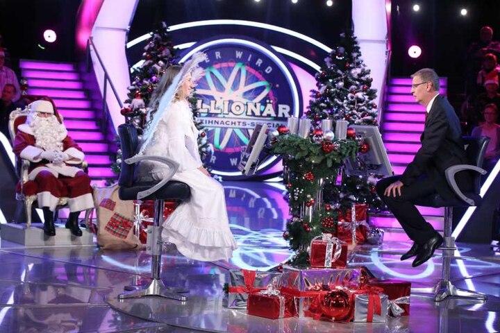 Bei der 125.000 Euro Frage wurde Angela übermütig. Flog zurück auf 16.000 Euro.