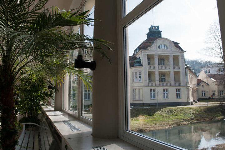 Das 4-Sterne-Hotel Badehof in Bad Salzschlirf. Die Stadt ist ein Kurort in Hessen.