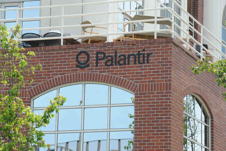 Das Hauptquartier der Datenanalyse-Firma Palantir in Palo Alto, USA.