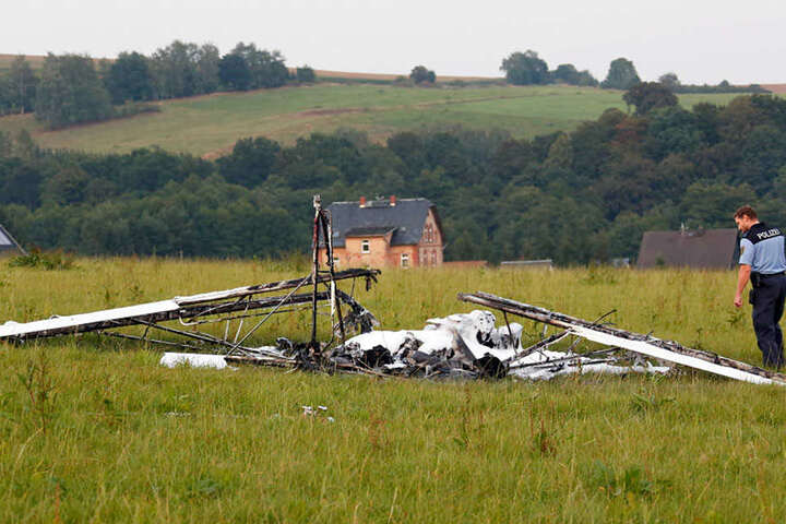 Der Pilot überstand den Vorfall unverletzt.