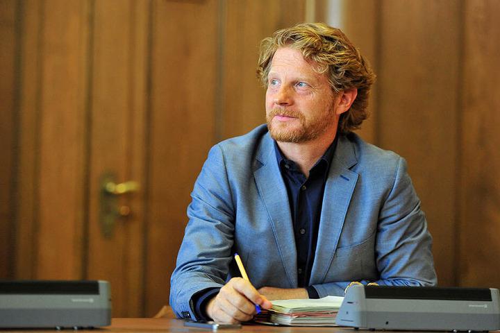 Will um die Chemnitzer Industrie-Ikone kämpfen: Baubürgermeister Michael Stötzer (46).