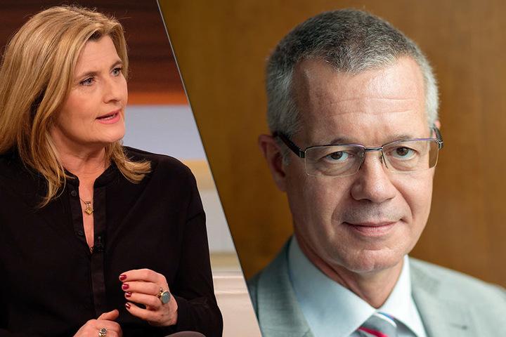 Tina Hassel und Rainald Becker führen das Interview.