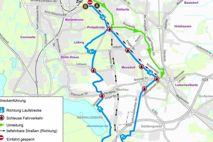 Die Strecke des diesjährigen Halbmarathons.