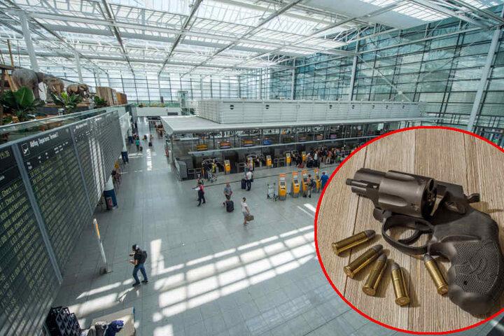 In der geerbten Reisetasche eines jungen Mannes wurde ein Revolver gefunden.