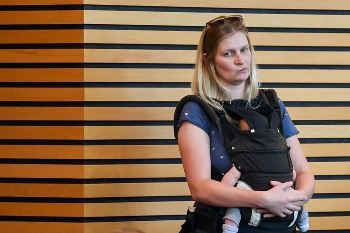 Die Grünen-Abgeordnete Madleine Henfling wurde im August mit ihrem Baby dem Plenarsaal verwiesen.