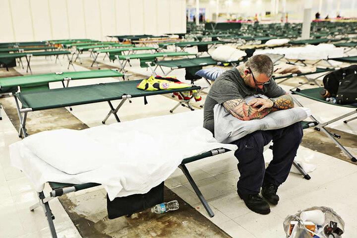 Für Geflohene wurden Notunterkünfte eingerichtet.