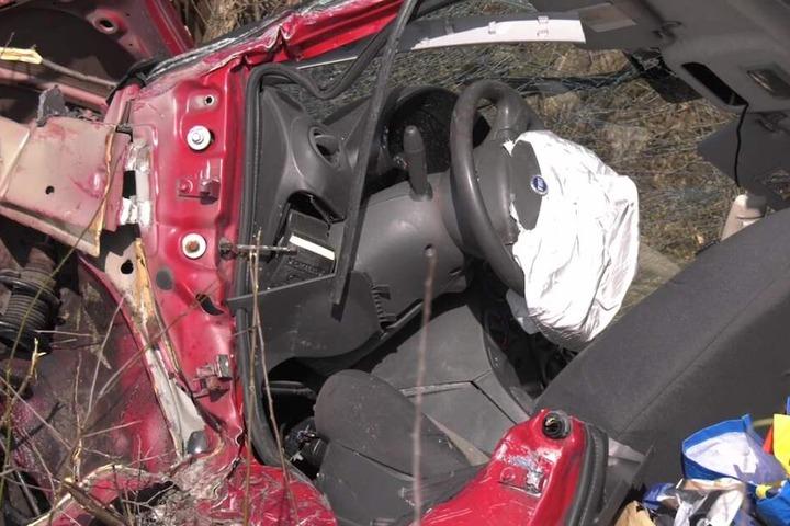 Der Fiat war völlig demoliert.