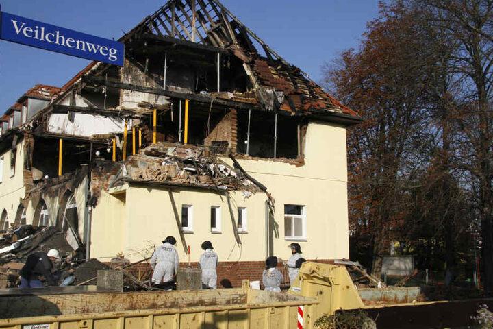 In diesem Haus in Zwickau lebten Beate Zschäpe, Uwe Böhnhadt und Uwe Mundlos, bis die Terrorzelle vor acht Jahren aufflog. Das Haus wurde mittlerweile abgerissen.