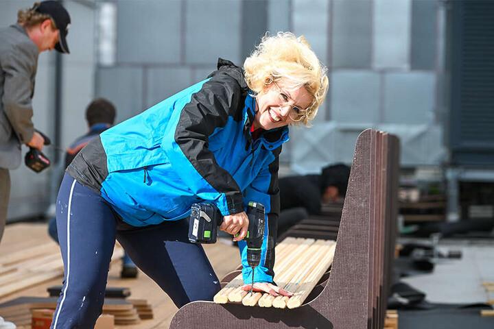 Kann nicht nur singen, sondern auch wunderbar bohren: Solistin Ingeborg Schöpf (52).