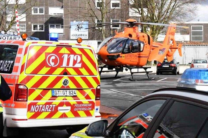 Mit einem Rettungshubschrauber wurde die 82-Jährige in eine Spezialklinik geflogen.