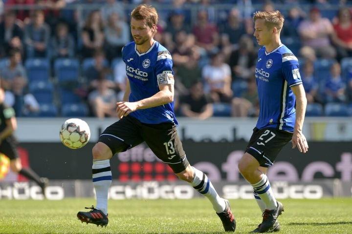Kapitän Julian Börner (l.)wird nach der Saison nach England wechseln.