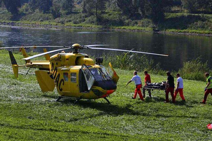Mit dem Rettungshubschrauber wurde der Wanderer ins Klinikum geflogen.