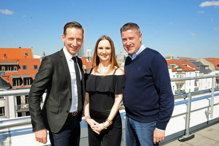 """Holten die Tanz-Meisterschaften und RTLs """"Let's Dance""""-Star-Juror Joachim Llambi (55, rechts) nach Leipzig: Tina Spiesbach (38) und Oliver Thalheim (41)"""