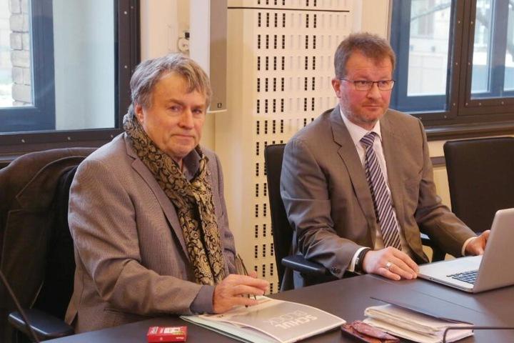 Gutachter sind Dr. Stefan Sutarkski (l) und Uwe Schmidt.