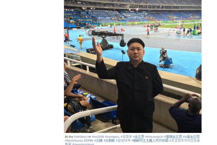 Doch dann stellt sich raus: Der Mann bei den Olympischen Spielen in Rio ist (natürlich) nicht der Diktator.