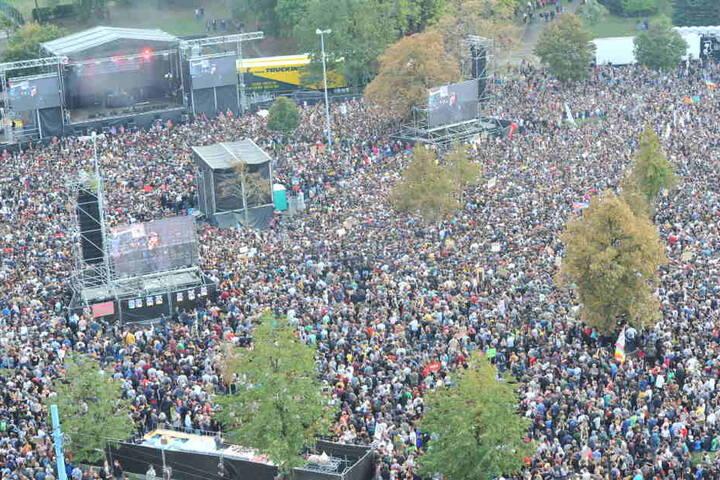Zum #wirsindmehr-Festival am 3. September kamen rund 65.000 Besucher nach Chemnitz.