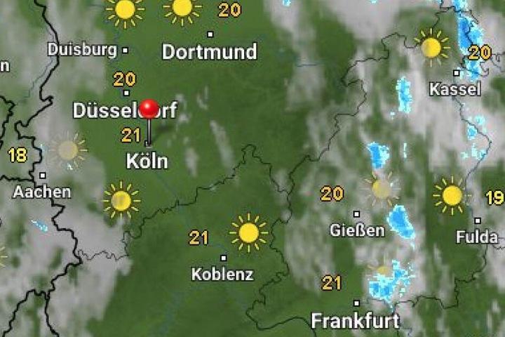 Die aktuelle Wetterprognose für NRW von WetterOnline.de.