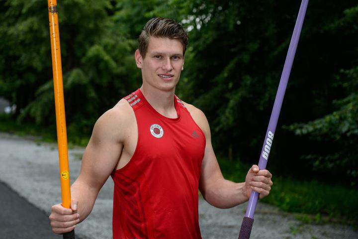 Der 28-jährige Speerwerfer Lars Hamann aus Dresden.