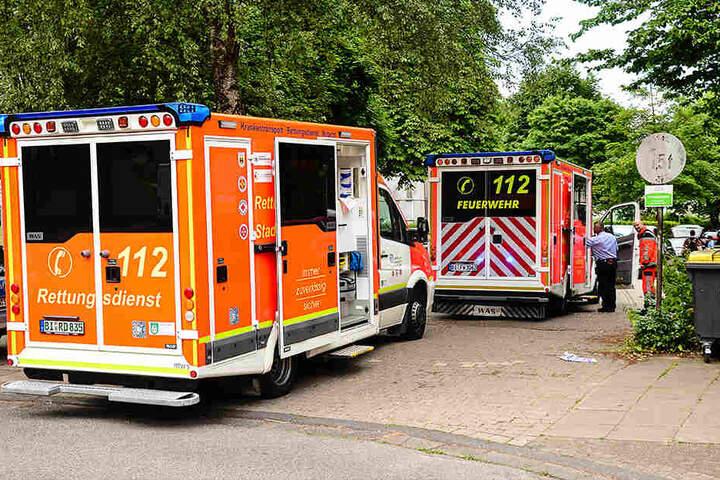 Feuerwehr und Krankenwagen waren am Osterkamp vor Ort.