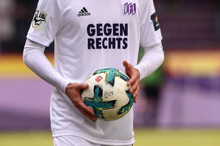 Mit diesen Trikots lief der Drittligist VfL Osnabrück gegen Hansa Rostock auf.