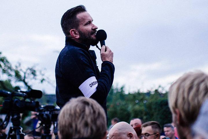 """Arthur Oesterle (46, AfD) trat auch als Sprecher und Ordner bei """"Pro Chemnitz""""-Demos auf."""