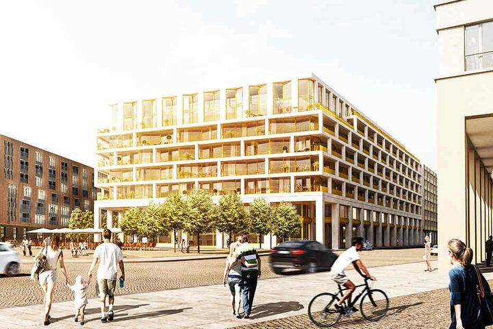 """Aus der Baugrube sollen binnen zwei Jahren die """"MaryAnn Apartments"""" wachsen."""