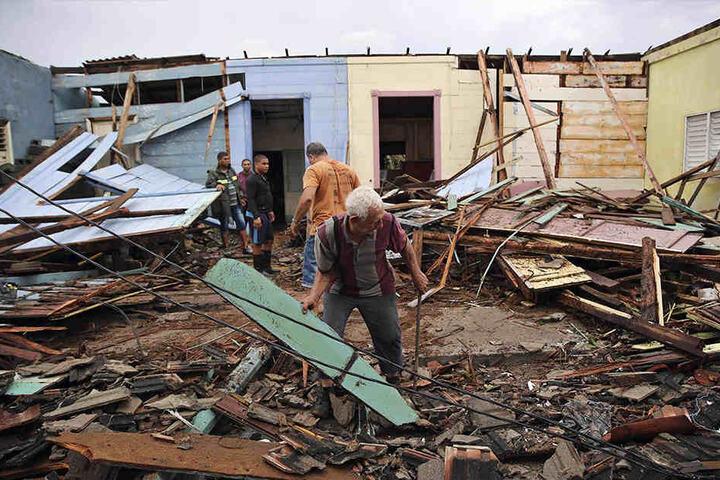 In Kuba hatte der Sturm bereits für schreckliche Zerstörung gesorgt.