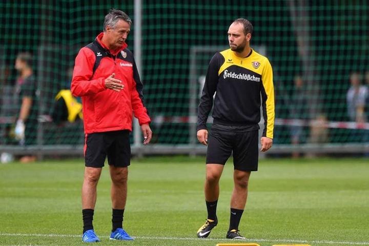 Uwe Neuhaus (li.) war zuletzt nicht immer zufrieden mit der Leistung und Einstellung von Rico Benatelli.