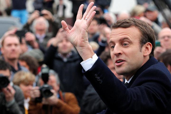 Mitte-Links-Politiker Emmanuel Macron (39, En Marche!): 23,7 Prozent.