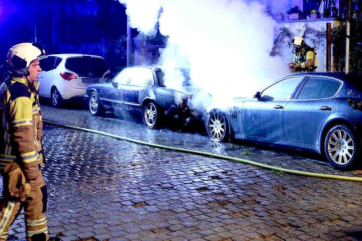 Der Maserati sowie ein Jaguar brannten Ende April in der Neustadt.