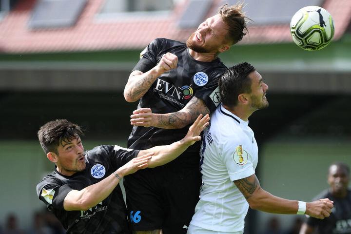 Im August spielten die Nordhäuser noch im DFB-Pokal gegen den FC Erzgebirge Aue.