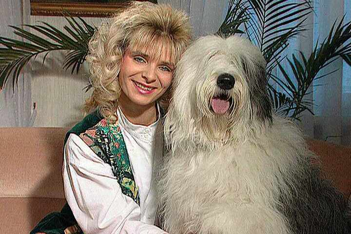"""Mit Locken und Wuschel-Bobtail Ariane startete Uta Bresan 1994 ihre erfolgreiche Sendung """"Tierisch, tierisch""""."""
